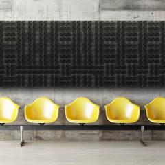 Organic Blocks Collection: Escritórios e Espaços de trabalho  por Muratto   Cork Wall Design ,Industrial