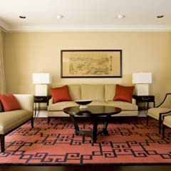 Shanghai Chic - Living Room:  Living room by Lorna Gross Interior Design