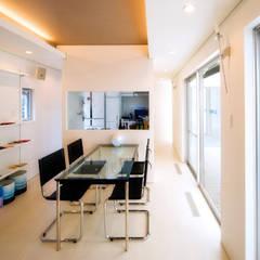 1Fダイニング: 株式会社青空設計が手掛けたオフィススペース&店です。