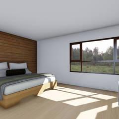 CASA AN: Dormitorios de estilo  por EjeSuR Arquitectura