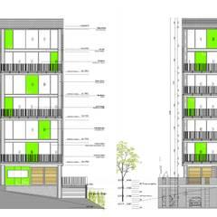 L _ 24 - Sur _ Apartamentos Lofts: Casas de estilo industrial por tresarquitectos
