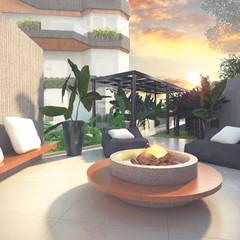 Lounge externo: Jardins minimalistas por Cecília Mesquita Arquitetura