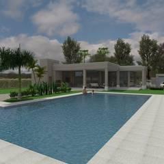 Pileta : Piletas de estilo ecléctico por Gastón Blanco Arquitecto