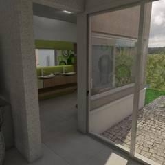 Acceso a Antebaño: Baños de estilo ecléctico por Gastón Blanco Arquitecto