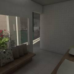Antebaño: Baños de estilo ecléctico por Gastón Blanco Arquitecto