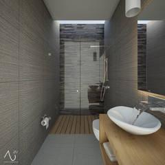 Baño 1: Baños de estilo  por 21arquitectos