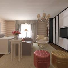 Загородный дом из белёного бруса: Рабочие кабинеты в . Автор – ARTWAY центр профессиональных дизайнеров и строителей,