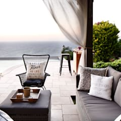 EK SUMMER HOUSE:  Terrace by Esra Kazmirci Mimarlik