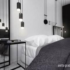 PODMIEJSKI INDUSTRIAL: styl , w kategorii Sypialnia zaprojektowany przez Gradomska Architekci - Interiors