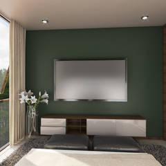 Villas T: Dormitorios de estilo  por Taller Interno