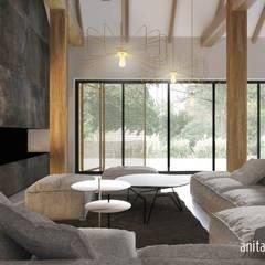 MARIAŻ NOWOCZESNOŚCI Z TRADYCJĄ: styl , w kategorii Jadalnia zaprojektowany przez Gradomska Architekci - Interiors