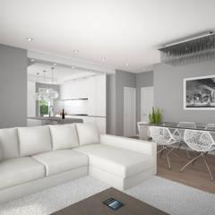 Living room by 2P COSTRUZIONI srl