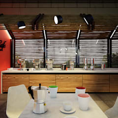 MOMENTOS DE CAFÉ _ Colcafé: Comedores de estilo  por @tresarquitectos