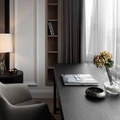 台北許宅:  書房/辦公室 by 大觀室內設計工程有限公司