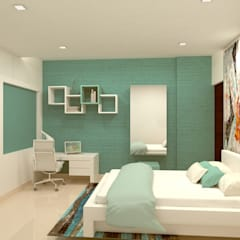 Daughter's Bedroom:  Bedroom by Kredenza Interior Studios