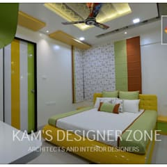 Apartment in Pharande L- Axis:  Teen bedroom by KAM'S DESIGNER ZONE