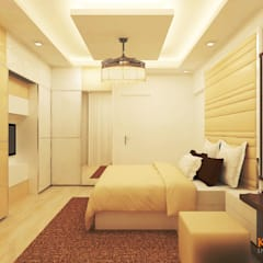 Jain Heights Apartment Interiors, Bangalore.:  Bedroom by Kredenza Interior Studios,Modern