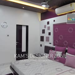 Bedroom Interior Design:  Windows by KAM'S DESIGNER ZONE