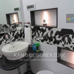 Bathroom Interior Design:  Bathroom by KAM'S DESIGNER ZONE