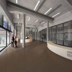 Fenix I:  Gang en hal door Mei architects and planners