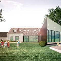 verbouwing en uitbreiding van bestaande eengezinswoning: landelijke Huizen door A2S ARCHITECTEN