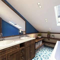 АКАДЕМИЯ ПАРК, 145, КОЛОНИАЛЬНЫЙ: Ванные комнаты в . Автор – Loft&Home