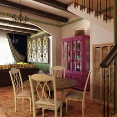 АКАДЕМИЯ ПАРК, 145, КОЛОНИАЛЬНЫЙ: Столовые комнаты в . Автор – Loft&Home
