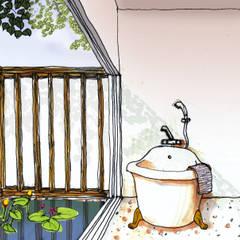 那須高原コミュニティーヴィレッジ: 羽鳥建築設計室が手掛けたスパ・サウナです。
