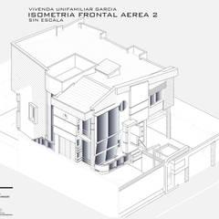 Isometría Frontal-Sur: Casas de estilo  por Eisen Arquitecto