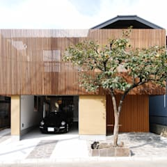 愛車と暮らす家ーリフォームー: 藤井伸介建築設計室が手掛けた家です。