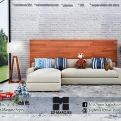 Nordic Scene By   Arq. Jesús Márquez Reyes: Salas de estilo  por 3D MarqJes arquitecto, Escandinavo Ladrillos