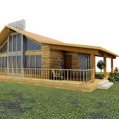 Casa de campo Tepotzotlan: Casas de estilo  por URBVEL Constructora e Inmobiliaria, Rústico