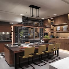Tea house:  廚房 by 沈志忠聯合設計