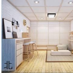 غرفة المعيشة تنفيذ เหนือ ดีไซน์ สตูดิโอ (North Design Studio)