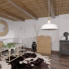 Projekt wnętrz domku letniskowego: styl , w kategorii Salon zaprojektowany przez YOANdesign