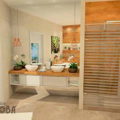 Bathroom in Voorburg: klasieke Badkamer door Studio Baoba