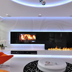 Living room by Clearfire - Lareiras Etanol,