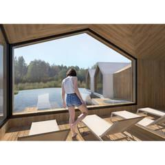 VIVIENDA + SPA RURAL: Spa de estilo  de Aguilar Arquitectos