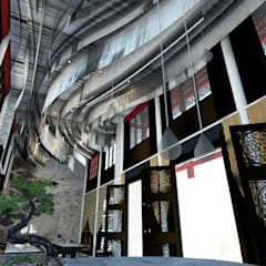 張家界酒店:  飯店 by Glocal Architecture Office (G.A.O) 吳宗憲建築師事務所/安藤國際室內裝修工程有限公司