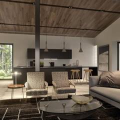 Living Room & Kitchen ( Cozinha e Sala Open Space): Cozinhas  por Tendenza -  Interiors & Architecture Studio