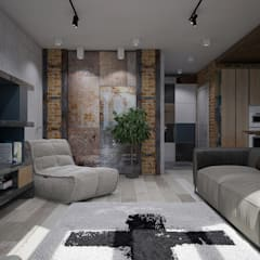 industrial Living room by Interior designers Pavel and Svetlana Alekseeva