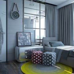 : Recámaras infantiles de estilo  por Interior designers Pavel and Svetlana Alekseeva