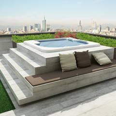 Ristrutturazione appartamento Desio (in corso): Terrazza in stile  di Cappelletti Architetti