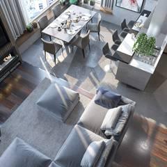 : Salas de estilo clásico por Interior designers Pavel and Svetlana Alekseeva