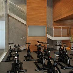 Business&Fitness: Тренажерные комнаты в . Автор – Flatsdesign