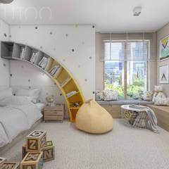 TĘCZOWY POKÓJ DZIECKA: styl , w kategorii Pokój dziecięcy zaprojektowany przez UTOO-Pracownia Architektury Wnętrz i Krajobrazu,