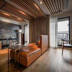 Salas multimedia de estilo  por 參與室內設計有限公司