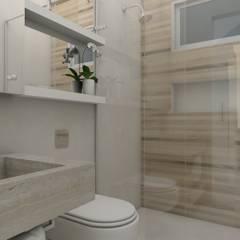 CASA NATURA: Banheiros  por UNUM - ARQUITETURA E ENGENHARIA