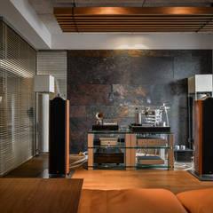 黑膠:  影音室 by 參與室內設計有限公司