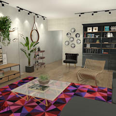 Apartment in Rotterdam:  Woonkamer door Studio Baoba